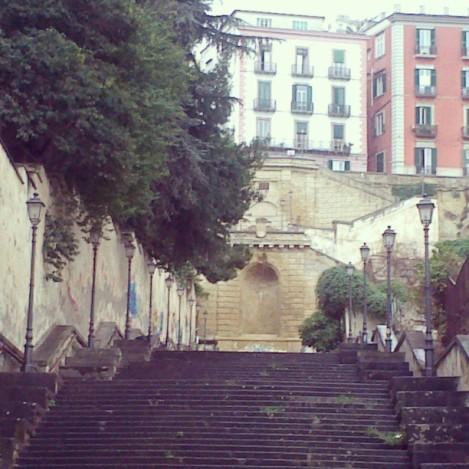La scalinata di Montesanto, luogo meraviglioso costruito dal Filangieri alla fine dell'800.